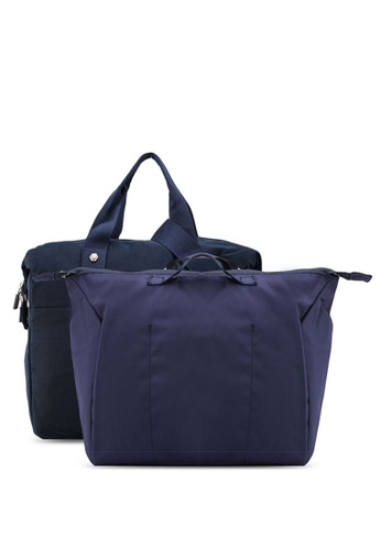 Bagstationz navy Water Resistant Travel Bag Set 9053BAC53EDCC2GS_1