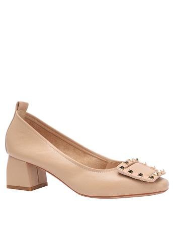 Twenty Eight Shoes Square Buckle Microfiber Leather High Meels 1280-19 4620ASHB7FFF1CGS_1