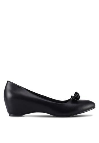 VINCCI black Round Toe Pump Wedges 3571FSH1067C63GS_1