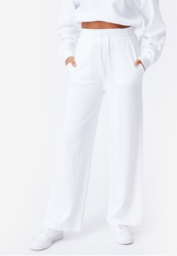 Supre white Vanessa Wide Leg Track Pants D3933AAD6F1863GS_1