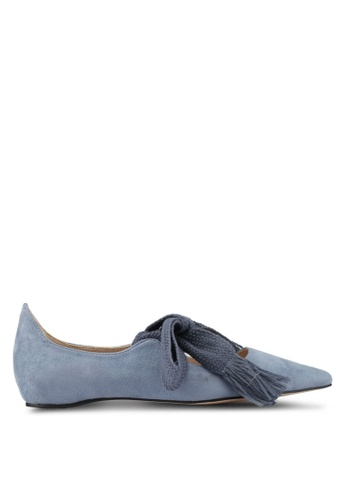 ZALORA grey Bow Ballerinas A56F5SH1DB11B1GS_1