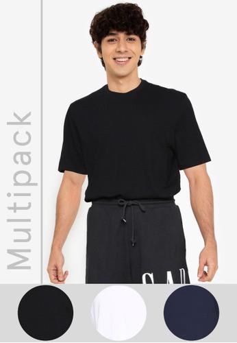 GAP multi 3-Pack Jock Crew T-Shirts 72299AAE6D2475GS_1