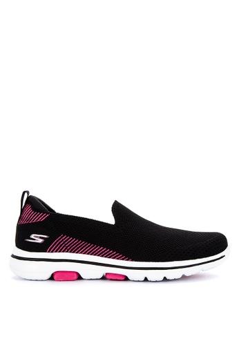 Skechers black Go Walk 5 - Prized Sneakers 15FBCSH6944DF9GS_1
