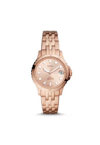 Fossil multi Fossil FB-01 Three-Hand Date Rose Gold-Tone Stainless Steel Watch ES4748 5A510AC47716DAGS_1