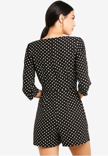 48accb08e2 Buy Miss Selfridge Dot D-Ring Mini Playsuit Online on ZALORA Singapore