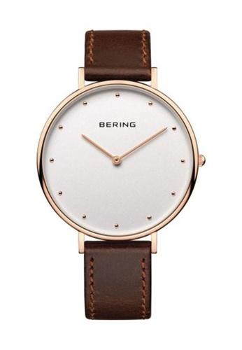 Bering brown Classic 14839-564 Beige 39mm Women's Watch BBABFACF815EDCGS_1