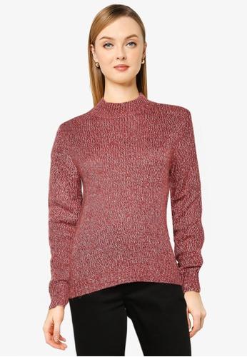 Vero Moda pink Lisa Jive High Neck Top C32BAAAB4570EBGS_1