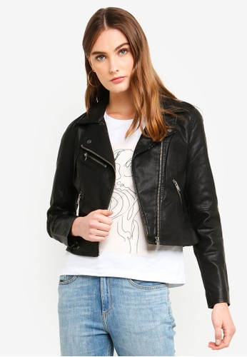 ONLY black Vigga Faux Leather Biker Jacket E9665AADE31DCCGS 1 648bdabf7b
