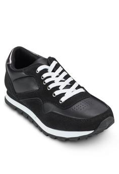 Hogan 異材質拼接繫帶運動鞋