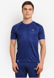 2GO blue and navy GO Dry Athlete Short Sleeve T-Shirt 2G729AA0S5ZZMY_1