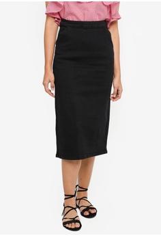 cbad181bf Something Borrowed black Denim Midi Skirt 5B1B0AA0893539GS_1