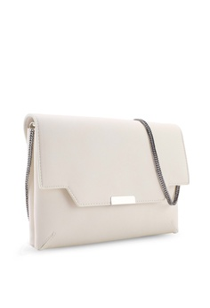 00a778fd8d5 Dorothy Perkins White Double Compartment Clutch Bag S$ 43.90. Sizes One Size