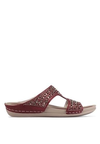 Noveni red Casual Sandals NO978SH0S9RCMY_1