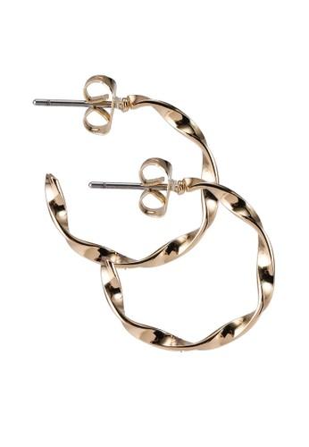 Pieces gold Dagny Hoop Earrings C2B4CACBA18D0FGS_1