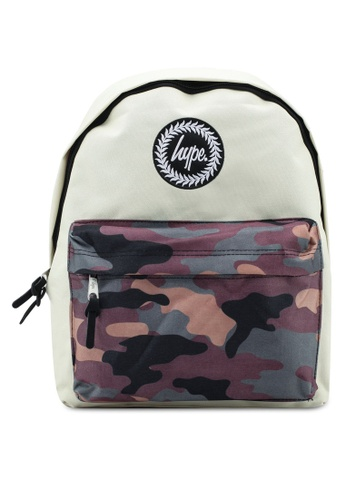 Just Hype green and beige Camo Pocket Backpack 5429DACD2EF995GS_1