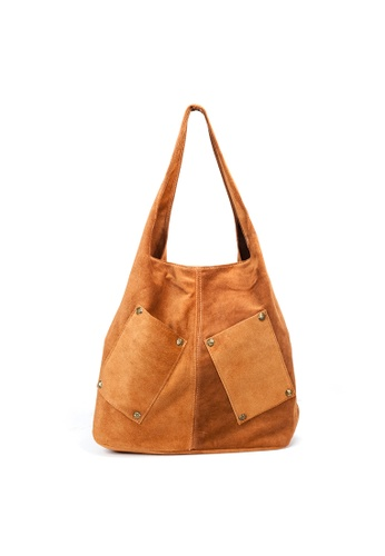 Shu Talk brown DMR Touch Boho Causal Suede Leather Shopping Tote Hobo E4930ACE0555A2GS_1