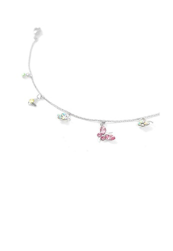Glamorousky multi Butterfly Anklet with Multi-color Austrian Element Crystal and CZ 8DA58ACE945639GS_1