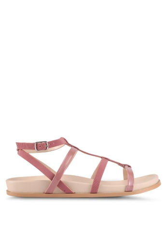ZALORA pink Strappy Sandals 33000SHF020141GS_1
