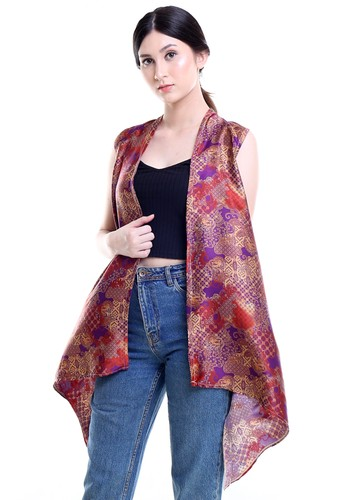 DhieVine Batik purple and multi and brown Hiranya Pelangi Wungu Outer Batik B707BAA6541AB9GS_1