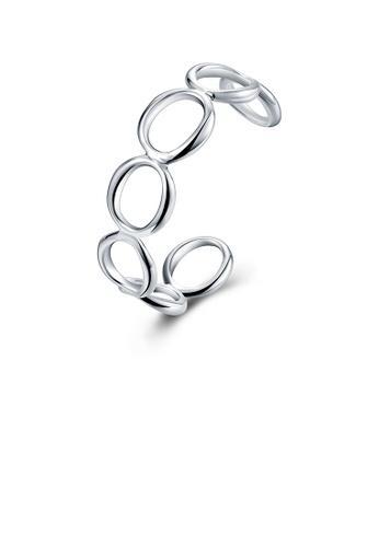 Glamorousky silver Simple Geometric Circle Bracelet BFBBAACDDFCB70GS_1