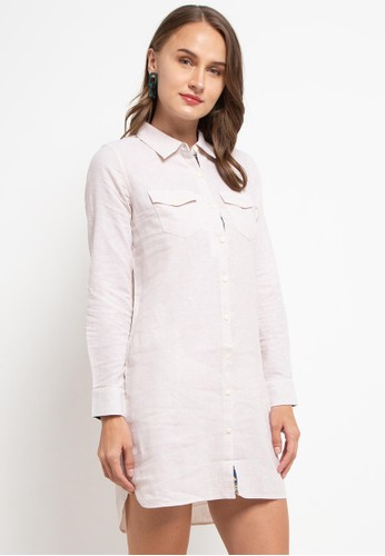 Giordano multi Women's Linen Dress 484EEAA8D649D1GS_1