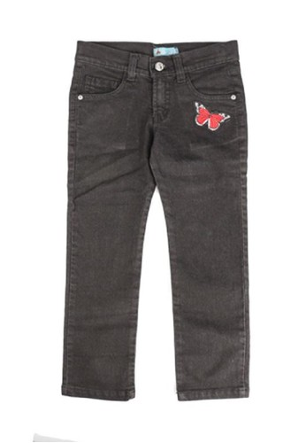 Versail black Versail Junior Celana Jeans Bordir Kupu-Kupu 4ECE4KAE6644CDGS_1