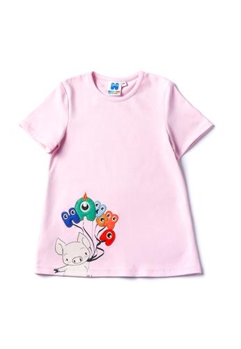 Vauva purple Vauva Hauska Girls Piggy One-Piece Dress - Purple 29A9BKA8334477GS_1
