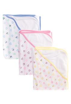 Milky Way Bath Towel Hearts Set of 3