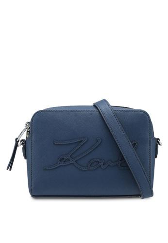 KARL LAGERFELD blue K/Signature Essential Cam Bag KA533AC0SDBZMY_1