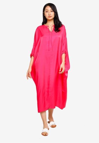 H&M pink Glossy Kaftan 60948AA0B7FB7EGS_1