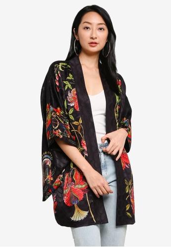 Desigual black Floral Printed Kimono 5E18DAA4D4533DGS_1