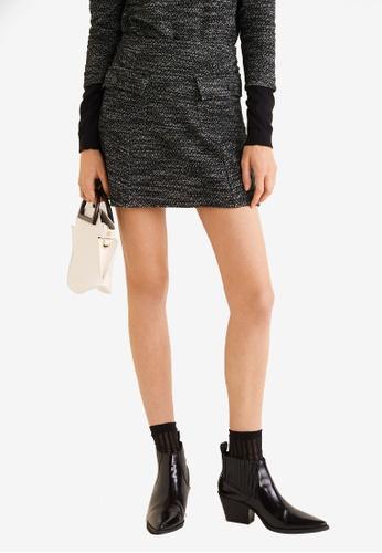 Mango grey Flecked Pocket Mini Skirt DA805AA395B817GS_1