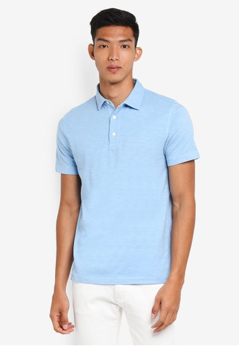French Connection blue Overdyed Wela Polo Shirt 5D0ADAA9B811FFGS_1