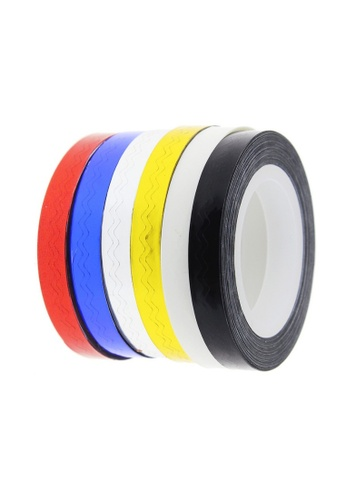 Pretty2u red and blue and silver and gold 4pcs Wave Line Tape Nail Design Metallic Yarn Set PR716BE0SS0MMY_1