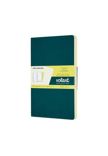 Moleskine multi Volant Journals Plain Soft Green Large C6162HL7ACA22CGS_1