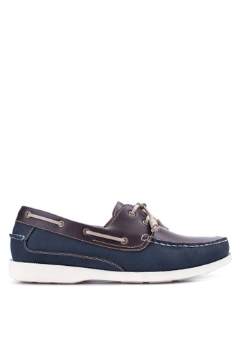 Gibi navy Men's Boat Shoes GI342SH22UWNPH_1