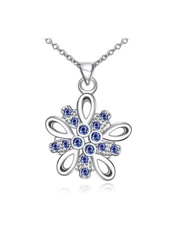 Tiaria white Tiaria Gold Plated NecklacePendant Fashion SPN085-C--K16 32C05AC357275AGS_1
