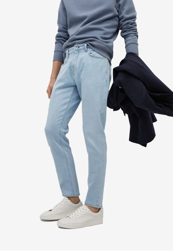MANGO Man blue Tom Tapered-Fit Soft Lyocell Touch Jeans 6A5A5AAACBAC3DGS_1