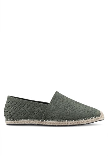 ZALORA green Faux Leather Espadrilles with Weaving Details 7D474SHBF45A7DGS_1