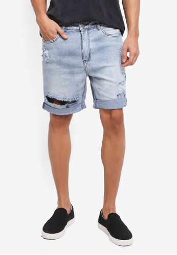 Factorie blue The Cornell Shorts D9A53AA396B6EEGS_1