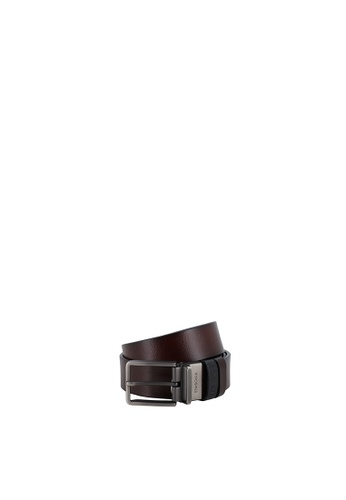 SEMBONIA brown Men 3.2cm Pin Buckle Leather Casual Belt A3997AC3E59AEEGS_1