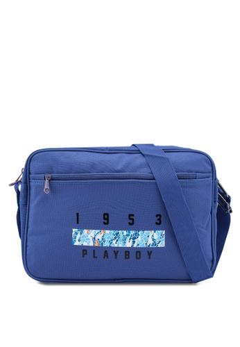 Playboy blue Playboy Sling Bag 5E033ACFEF5753GS_1