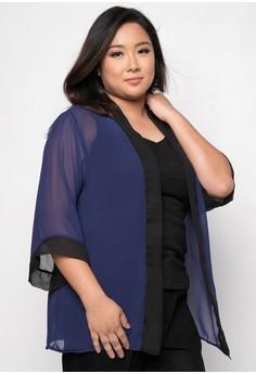 Clow Two Tone Kimono Plus Size