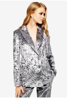 c973811017e TOPSHOP silver Bonded Velvet Jacket 5E458AA7BD566AGS 1