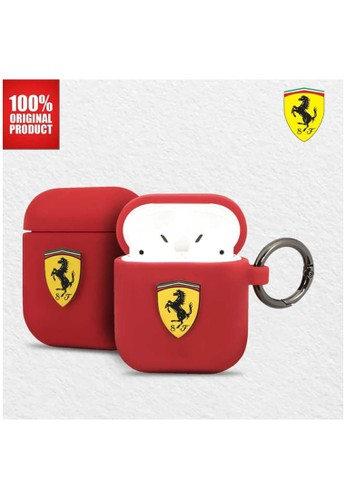 Ferrari red Ferrari - On Track Airpods Silicone Case - Red 37817ESBE10DC7GS_1
