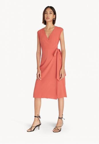 Pomelo pink Waist Tie Wrap Jumpsuit - Pink 16385AA3DA0563GS_1