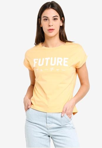 UniqTee orange Future Boxy Tee D0291AAB2BB08FGS_1