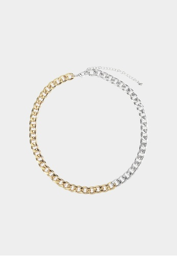 Pomelo silver Two Tone Chain Necklace - Gold/Silver FA52DACE43E42EGS_1