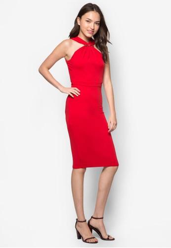 Sariesprit衣服目錄ta 閃飾繞脖連身裙, 服飾, 洋裝