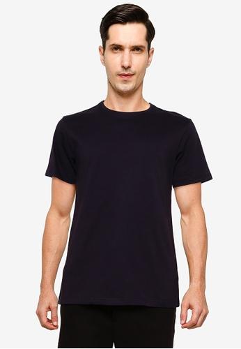 UniqTee black Essential Crew Neck T-Shirt 06D48AA5506D27GS_1